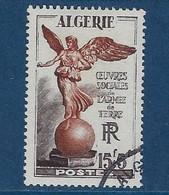 """Algerie YT 307 """" Armée De TERRE """" 1953 Oblitéré - Oblitérés"""