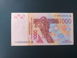 COTE D IVOIRE  1000 FRANCS 2003 - Côte D'Ivoire