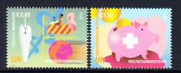2018 United Nations Vienna World Health Day  Complete Set Of 2  MNH @ BELOW FACE VALUE - Nuevos