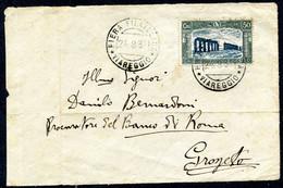 Z2648 ITALIA REGNO 1931 Frontespizio Di Lettera  Affrancata Con Milizia III 50 C., Da Viareggio 24.8.31 Per Grosseto, Bu - Marcophilia