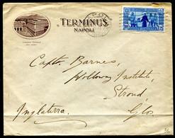 Z2612 ITALIA REGNO 1931 Lettera Affrancata Con S. Antonio 1,25 L. ISOLATO Da Napoli 12.10.31 Per L'Inghilterra, Buone Co - Marcophilia