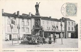 CPA: LE DORAT (87) STATUE FONTAINE MONUMENTALE ANIMÉE..ÉCRITE - Le Dorat