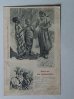 Africa Ghana 400 Aschanti Dorf 1899 Children Smoking Verlag Victor Bamberger Wien - Ghana - Gold Coast