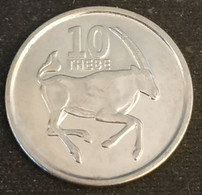 BOTSWANA - 10 THEBE 2013 - Oryx  - KM 32 - Botswana