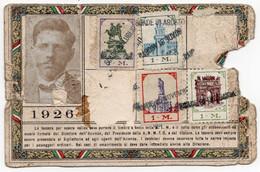 BIGL--00076-- ABBONAMENTO AZIENDA TRANVIE MUNICIPALI MILANO- ANNO 1926 - Europe