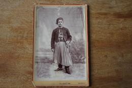 Cabinet  Le Zouave Henri Martin  Tenue à L'orientale  à Téniet El Haad Algerie  Vers 1880  Avec Dédicace - Guerre, Militaire
