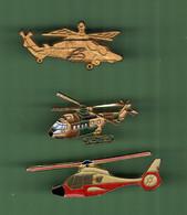 HELICOPTERE *** Lot De 3 Pin's Differents *** 5011 - Vliegtuigen