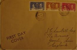 ANTIGUA 1937-Coronation FDC Mailed To England(RefA43) - 1858-1960 Kolonie Van De Kroon