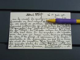 Dédicace De Paul FORT 1er Juin 1951 - Autographs
