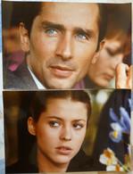 LOT DE 2 PHOTOS EXPLOITATION CINEMA L' INDIC - THIERRY LHERMITTE & PASCALE ROCARD - 3 SCANS - Photographs