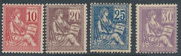 DZ-65: FRANCE: Lot Avec  N°112* (*infime)-113*-114*-115**(* Infime) - 1900-02 Mouchon