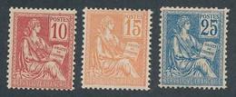 DZ-66: FRANCE: Lot Avec  N°116/118* (118, Une Dent Faible) - 1900-02 Mouchon