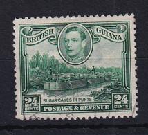 British Guiana: 1938/52   KGVI     SG312a   24c  [Wmk Sideways]    Used - Britisch-Guayana (...-1966)