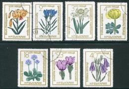 BULGARIA 1972 Protected Flowers Used.  Michel  2197-203 - Gebraucht