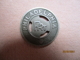 USA: Jeton / Token Philadelphia (good For One Fare) - Monetary/Of Necessity