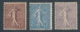 EA-12: FRANCE: Lot Avec N°131*-132*-133* (* Plutôt Lourdes) - 1903-60 Säerin, Untergrund Schraffiert