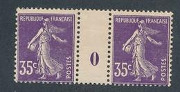 EA-14: FRANCE: Lot Avec N°142* Millésime 0 - 1906-38 Semeuse Con Cameo
