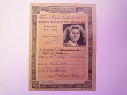 GP 2021 - 92  CARTE D'IDENTITE SCOLAIRE  1947 - 1948  Nadège HERMAND Née à Sens Le 9 Avril 1931    XXX - Unclassified