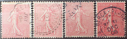 R1491/210 - 1903 - TYPE SEMEUSE LIGNEE - N°129 (type I + II + III + III Rose Foncé) ☉ - 1903-60 Sower - Ligned
