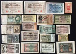20 X Various German Banknotes - Verzamelingen