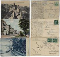 Germany 1910 / 1913 Bad Kissingen Berchtersgaden Castle Neuschwanstein Stamps - Andere