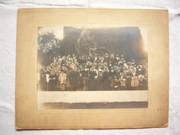 Superbe Photo Famille Bretagne Costume Traditionnel 19ème Format Cliché 17X22 Cm - Antiche (ante 1900)