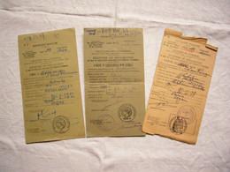 Lot De 3 Récépissés Circulation Automobile Années 1949, 54, 61 Seine - Non Classificati