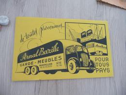 Buvard Publicitaire Pub Arnal Bazille Déménagement Garde Meubles Montpellier Sète Cette Hérault - Transport