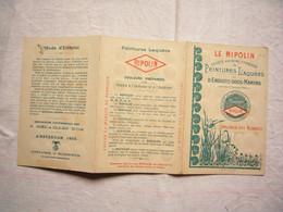 Dépliant Pub Peintures Laquées Le Ripolin Spécimen Avec Nuancier - Pubblicitari