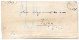 Moselle (Boulay) L Taxe 10 Au Crayon Obl. BOLCHEN Du 29.11.1879 - Au Verso Griffe FALKENBERG I DEUTSCH LOTHRINGEN - Elzas-Lotharingen
