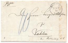 Moselle (Boulay) L Taxe 10 Au Crayon Obl. BOLCHEN Du 30.10.1879 - Elzas-Lotharingen