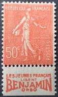 "R1491/215 - 1924/1932 - TYPE SEMEUSE LIGNEE - N°199a (IIA) NEUF**/* BdF Publicitaire "" BENJAMIN "" - Advertising"