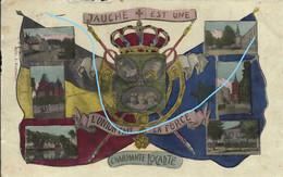 Carte Fantaisie - JAUCHE Est Une Charmante LOCALITE (avec Blason De La Belgique Et 6 Petites Vues De Jauche) - Orp-Jauche