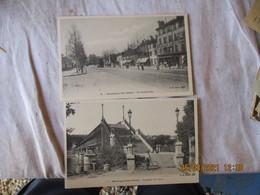 Lot 2 Cpa Boulugne Sur Seine Acquduc Avre Et Grande Rue - Boulogne Billancourt