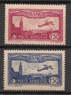 France - 1930 - Poste Aérienne PA N°Yv. 5 Et 6 - Avion Survolant Marseille - Neuf Luxe ** / MNH / Postfrisch - 1927-1959 Mint/hinged
