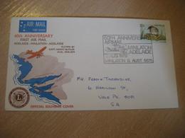 LIONS CLUB Minlaton Adelaide Capt. Butler 60th Anniv. First Air Mail Flight 1979 Cancel Cover AUSTRALIA - Primi Voli