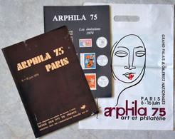 Publicité - Plaquette Publicitaire ARPHILA 75 PARIS / Philatélie Timbres Médailles Exposition 1975 PTT - Werbung