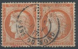 Lot N°59651  Paire Du N°38, Oblit Cachet à Date De PARIS (Gare Du Nord) - 1870 Siege Of Paris