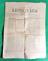 Lousã - O Jornal Da Louzã Nº 159 De 23 De Janeiro De 1906 - Imprensa. Coimbra. Portugal. - General Issues