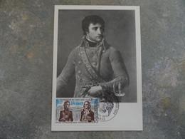 CARTE MAXIMUM CARD PORTRAIT DE BONAPARTE PREMIER CONSUL FRANCE - Napoleon