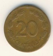 ECUADOR 1942: 20 Centavos, KM 77.1a - Ecuador