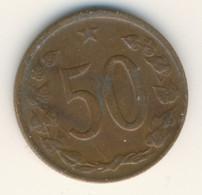 CZECHOSLOVAKIA 1969: 50 Haleru, KM 55 - Czechoslovakia