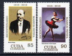 2018 Cuba Petipa Theatre Drama Don Quixote   Complete Set Of 2 MNH - Neufs