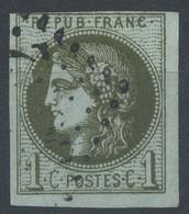 Lot N°59655  N°39A 1é état, Oblit GC 5032 Geryville, (Oran), Ind 22 ???????, Bonne Marges,sans Pli, Ni Clair, Signé Brun - 1870 Emissione Di Bordeaux