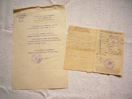 2 Documents Citation à L'ordre Du Parc Artillerie 1918 Et Ordre De Route Rigollier Jean - 1914-18