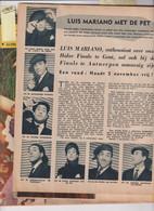 LUIS MARIANO-2 PAGES  DANS LA REVUE PICCOLO 1956 - [1] Until 1980
