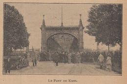 G3177 France - Le Pont De Kehl - 1920 Vintage Print - Stampa Epoca - Stampe & Incisioni