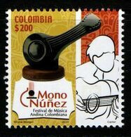 """A275 - KOLUMBIEN - 2020- MNH- MUSIC- ANDEAN MUSIC FESTIVAL """"MONO NUÑEZ"""" IN GINEBRA-CITY, VALLE. - Colombia"""
