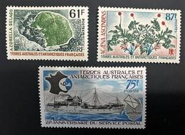 TAAF Yvert N° 52 à 54, Année 1974 Complète, Très Beaux Timbres - Ungebraucht