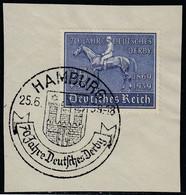 Deutsches Reich Mi. 698 Briefstück SST Hamburg 25.6.1939 - Usados